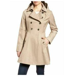 NEW Via Spiga Double Breast Trench Rain Jacket XL